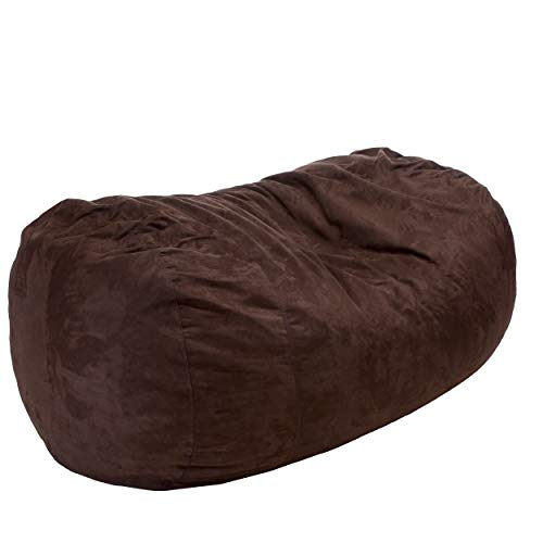 Great Deal furniture David Faux Suede 8 Feet Lounger Bean Bag (Brown)