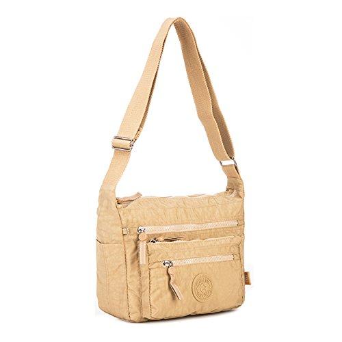 Foino Umhängetasche Damen Seitentasche Lässige Schultertasche Reisetasche Leicht Kuriertasche Mode Taschen Sporttasche Design Messenger Bag für Mädchen