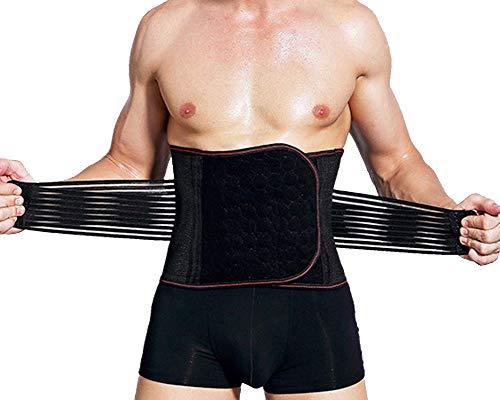 Kasen Bauchweggürtel Fitnessgürtel Abnehmen Verstellbarer Bauchgürtel Herren Beim Sport Fitness Schwitzgürtel Belt Slimmer Schwarz 2XL