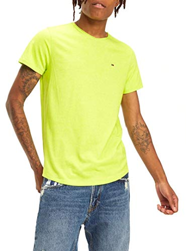 Tommy Jeans Heren Essential Jaspe T-shirt groen XXL