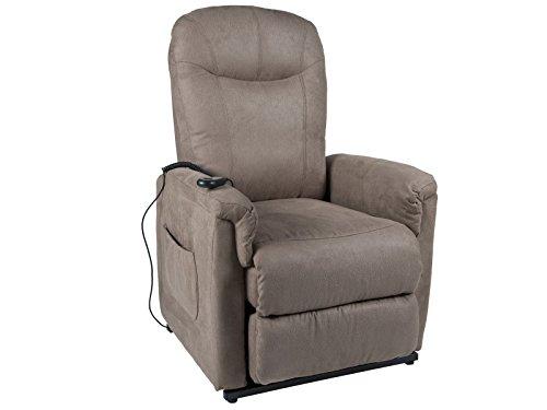TV-Sessel Pylos mit Motor Aufstehhilfe - Federkern in braun