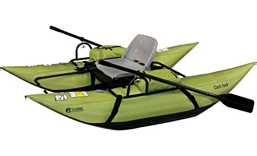 Classic Accessories Clark Fork Inflatable Pontoon Boat, Apple Green