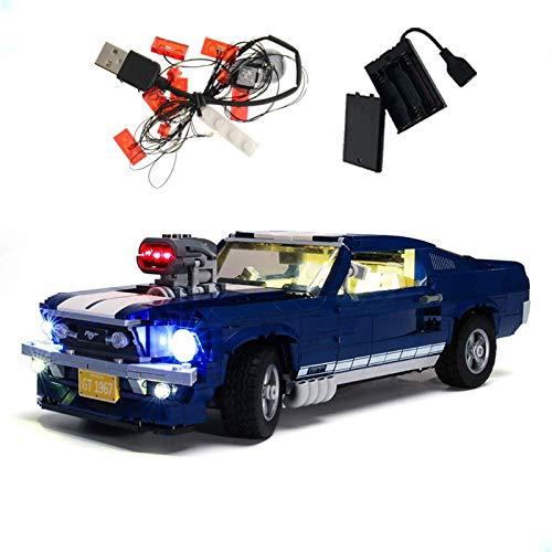 ADMLZQQ Conjunto de Luces Lightailing para (Ford Mustang) Modelo de Construcción de Bloques - Kit de luz LED Compatible con Lego 10265(NO Incluido en el Modelo)