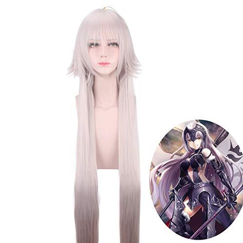 Anime Fate/Grand Order Jeanne d'Arc Alter peluca Cosplay disfraz Juana de Arco mujeres largo resistente al calor pelucas de fiesta de pelo sinttico