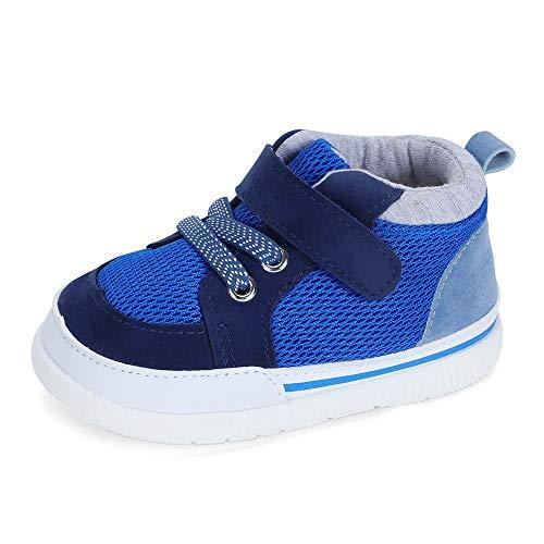 LACOFIA Zapatos Primeros Pasos bebé Infantil Zapatillas de Deporte Transpirables con Suela de Goma Antideslizante para bebé niños Azul 19/20