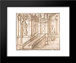 Anonymous Artist, Italian, 16th Century - 18x15 Framed Museum Art Print- Project of Altar Decoration (Stage Setting ?)