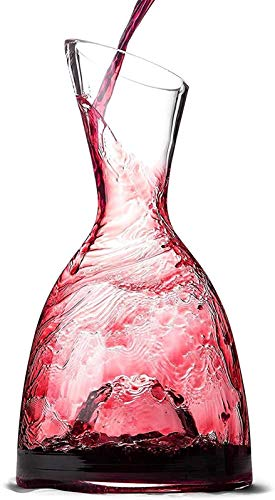 Decantador de vino de cristal hecho a mano, Skull Glass Wine Decanter and Glasses Set Decantador de vinos: 100% libre de plomo, lujosa botella de vidrio de aire acerador, adecuado para amantes del vin