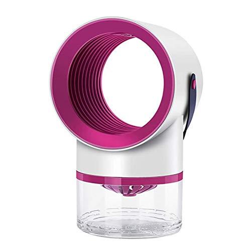 CEXTT Lampe de Moustique Anti-électrique de la Flexion USB, Double Conversion de fréquence de fréquence Intelligente de Deux en-Un Fling de moustiquaire sans Bruit, avec Lampe d'attraction, Gris