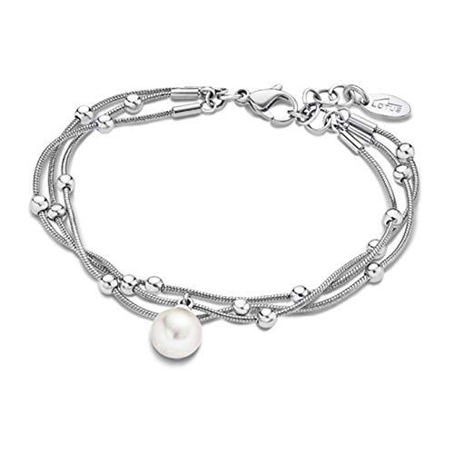 Lotus Style Privilege Perle Armband LS1851-2/1 Damen Schmuck Silber D2JLS1851-2-1 EIN schönes Geschenk zu Weihnachten, Geburtstag, Valentinstag für die Frau