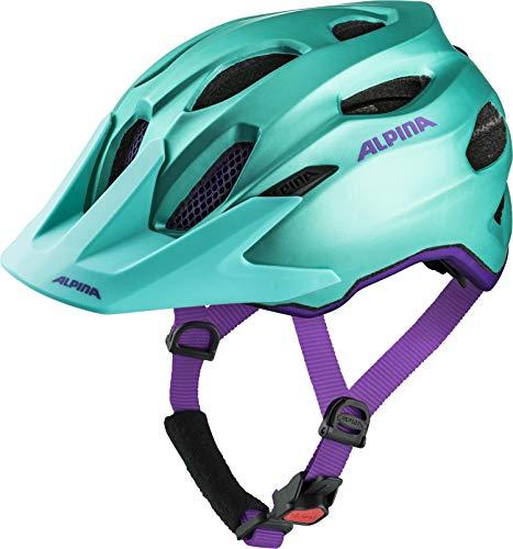 ALPINA CARAPAX JR. Fahrradhelm, Kinder, smaragd-violet, 51-56