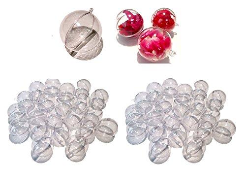 CRYSTAL KING Lot de 40 boules en acrylique - 5 cm - Divisible - En plastique transparent - 50 mm