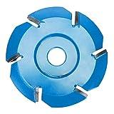 Bestine Disco de tallado de madera, 6 dientes, herramienta de fresado para amoladora de ángulo de apertura de 16 mm (diámetro de 90 mm)