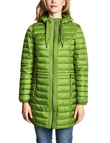 CECIL Damen Mantel 100458, Punchy Lime Green, Small (Herstellergröße: S)