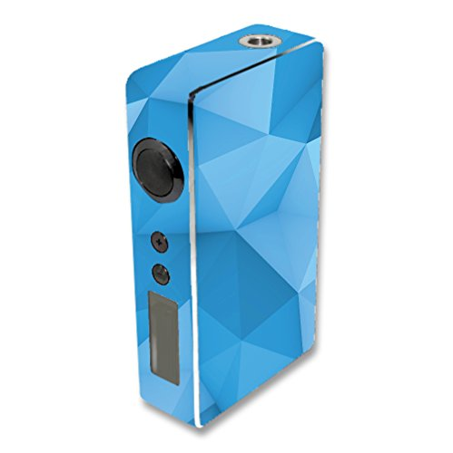 Decal Sticker Skin WRAP Blue Polygon Design for Sigelei 150W