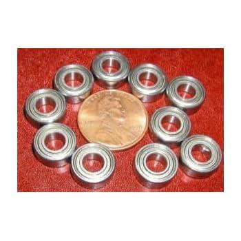 10 Bearing 4x7 Shielded 4x7x2.5 Ball Bearings Pack