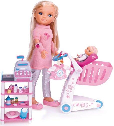 Famosa Nancy - De Compras con su hermanita, Dos muñecas y a
