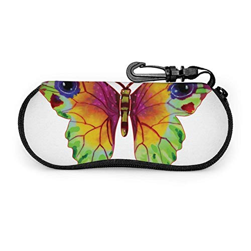 GOSMAO Funda Gafas Imagen de mariposa Neopreno Estuche Ligero con Cremallera Suave Gafas Almacenaje