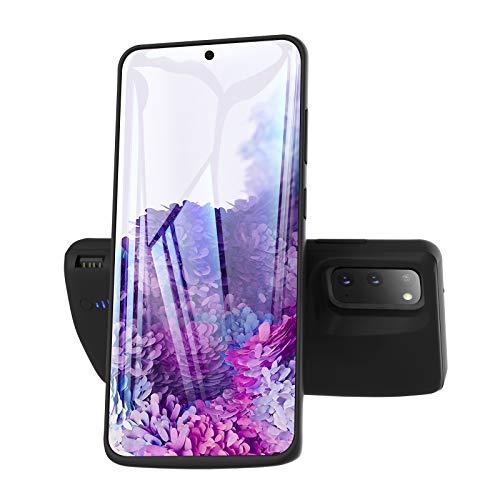 Kerter Funda Batería para Galaxy S20 Ultra - [6000mAh] Estuche de Carga Batería extendida para Samsung Galaxy S20 Ultra Batería Recargable Batería de Respaldo Power Bank Cargador portátil - Negro
