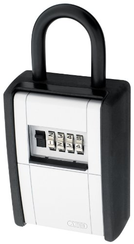 ABUS 797 C Key Safe 4-Dial Resettable Combination Key Storage Box with Shackle, Black by ABUS