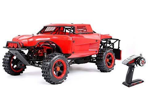 HYZY Öl-Powered Fernbedienung Geländefahrzeug 1/5 Kraftstoff 36CC High-Power-High-Speed-Wettbewerb Drift Drift Ferngesteuertes Auto Spielzeug Modellautos,Rot