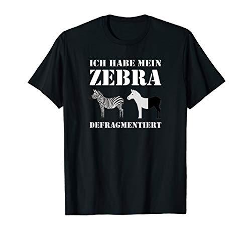 Informatiker Geschenk Lustig Informatik Zebra Deko Nerds T-Shirt