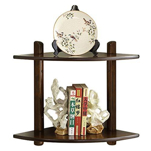 WXL Wandregal, Eckregal, Holz, Aufbewahrung, kleine Gegenstände, 2-lagig, einfache Wandaufhängung,...