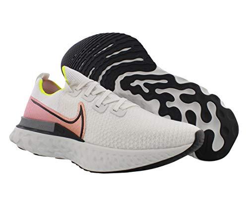 Nike React Infinity Run Flyknit Men's Running Shoe Platinum Tint/Black-Pink Blast Size 12