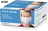 Cordova Safety Products ELM100 Disposable Face Masks, 3-Ply Construction, One Size Fits All, Pack of 2,000
