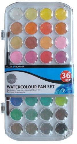 Daler Rowney Simply Watercolor 36 Pans