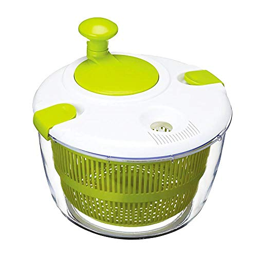 RUNYN 5L Large Capacity Salad Spinner, Vegetable Dryer/Drainer, Easy Spin Fruit Washing Drying Machine & Tools, Kitchen Drain Basket