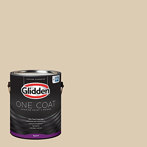 Glidden Interior Paint + Primer: Beige/Seriously Sand, One Coat, Eggshell, 1-Gallon