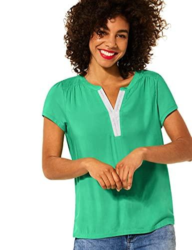 Street One Damen 316199 T-Shirt, Yucca Green, 40