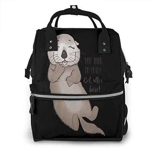 Otter je denkt dat ik schattig krijgen Otter hier grote capaciteit multifunctionele mama rugzak grote capaciteit landscap licht baby luier zakken