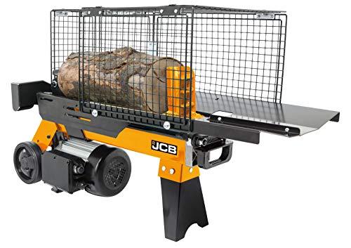 JCB Holzspalter hydraulisch 4 Tonnen Spaltkraft (1500 Watt, 2 PS, 4t, 230 V, Spaltdurchmesser Ø 250 mm, Spaltlänge 370 mm, automatischem Rücklauf) Brennholzspalter liegend
