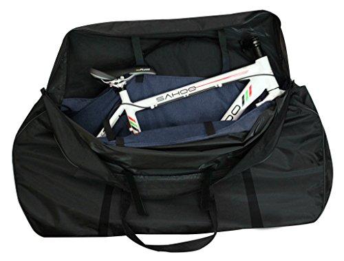 Tofern Bolsa de transporte para bicicleta, 121 x 85 x 20 cm, color negro