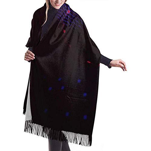 Regan Nehemiah Womens sjaal wrap shiny disco bal aan het plafond wrap sjaal sjaal wrap sjaal warme deken