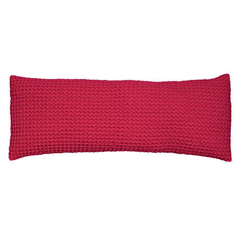 Vivaraise - Coussin Naga avec garnissage Moelleux – Taie d'oreiller Lavable - Housse Amovible – 100% Coton Stonewashed – Tissage nid d'abeille XL