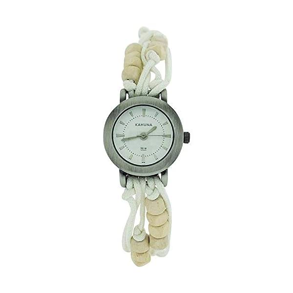 – Lot of 10pcs- Kahuna Ladies White String Bead Bracelet Toggle Watch