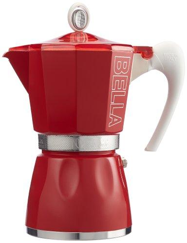 G.A.T. 2790000093 Espressokocher für 6 Tassen, rot