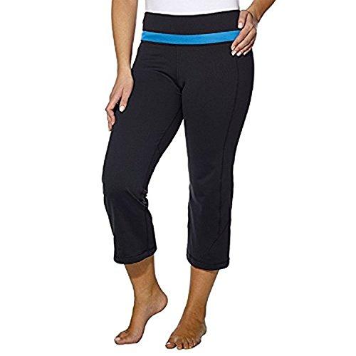 Kirkland Signature - Women's Activewear -Yoga Pants for Women - Workout Pants Capri Black/Blue