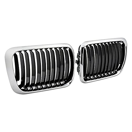 YKPDM Parachoques Frontal Ridney Grills, For-BMW E36 3-Series 318i 323i 328i M3 1997-1999 E36 Grill, Grille Negro Kidney
