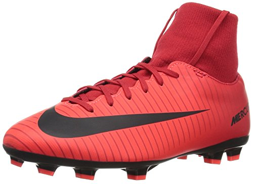 Nike Unisex JR Mercurial Victory VI DF FG Fußballschuhe, Rot (Universität), 36 EU
