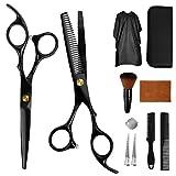 Haarschere Set, 2 Scharfe Friseurscheren aus Edelstahl, Haarschneideschere Effilierschere -...