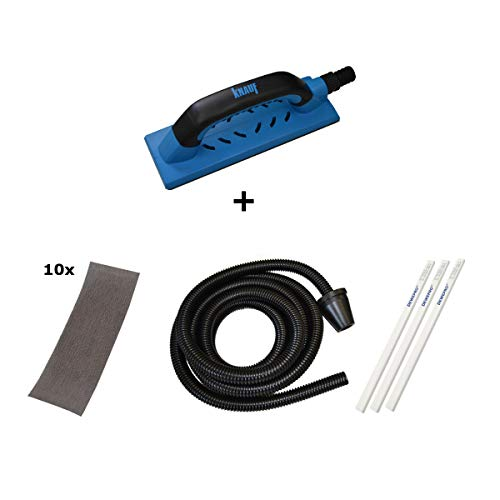 KNAUF® Abranet® Super-Set - der Handschleifer mit Absaugfunktion für den Trockenbau - im Set inkl. 3 St. DEWEPRO® Zimmermannsbleistift