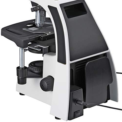 Bresser professionelles trinokulares Durchlicht Mikroskop Science Infinity 40-1000x Vergrößerung, planachr. Objektive, Köhlersche Beleuchtung, sehr helle 3W LED, koaxialer Kreuztisch, c-Mount Adapter
