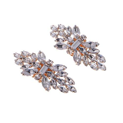LLLucky Clips de Zapato de Diamantes de imitación en Tono Dorado