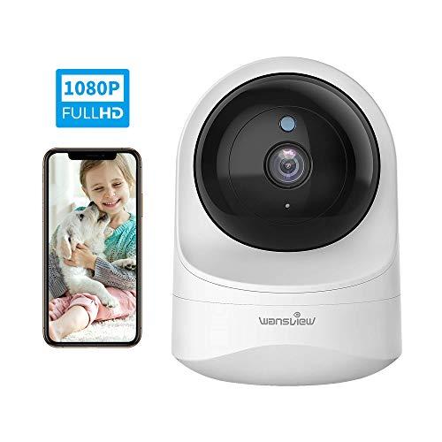 Wansview Überwachungskamera, WLAN IP Kamera WiFi 1080P für Baby, Ältere, Haustiere Monitor mit Bewegungserkennung, Zwei-Wege-Audio, Nachtsicht und Arbeitet mit Alexa Q6 Weiß