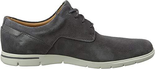 Clarks Vennor Walk, Zapatos de Cordones Derby para Hombre, Gris (Grey Suede -), 42 EU