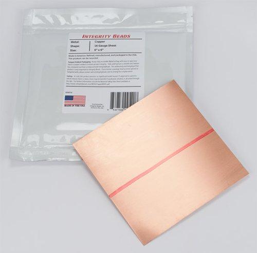 Copper 16 Gauge Sheet - 6 x 6
