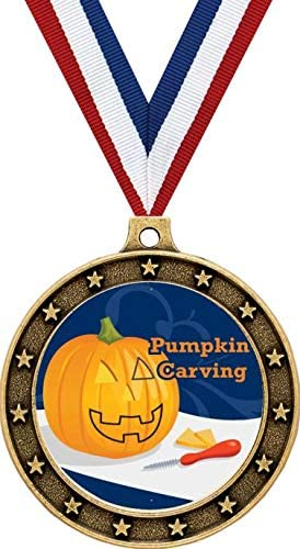 Gold Pumpkin New popularity Carving Halloween Medals Contest A - Complete Free Shipping 2.5